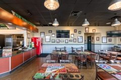 PKC Construction wingstop interior custom tables